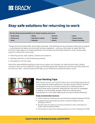 Return to Work COVID-19 Information